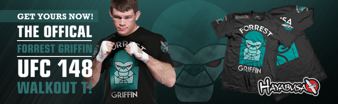 The Official Hayabusa-Forrest Griffin UFC 148 Walkout T