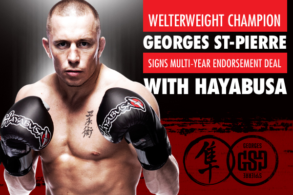 Georges St Pierre Signs Multi Year Endorsement Deal with Hayabusa