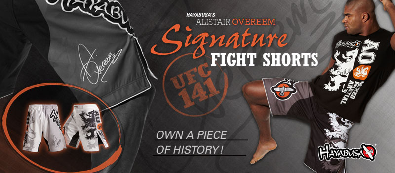 Hayabusa Overeem Signature Fight Shorts Back In Stock