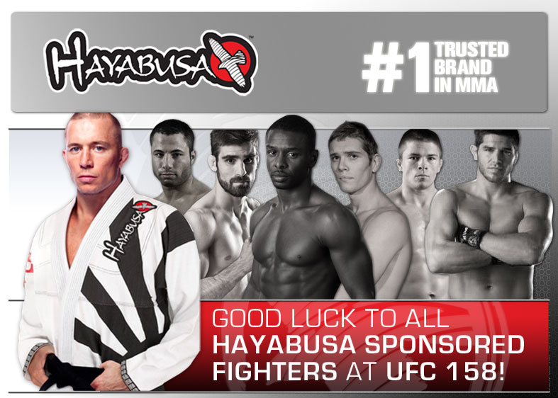 Hayabusa UFC 158 Sponsored Fighters