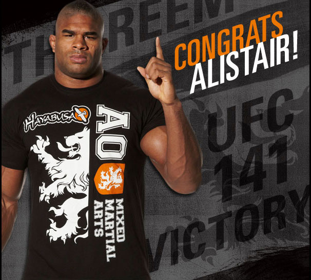 Congratulations Alistair Overeem at UFC 141