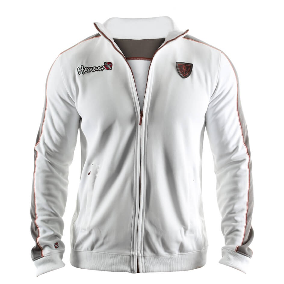 Hayabusa Track Jacket White / Grey