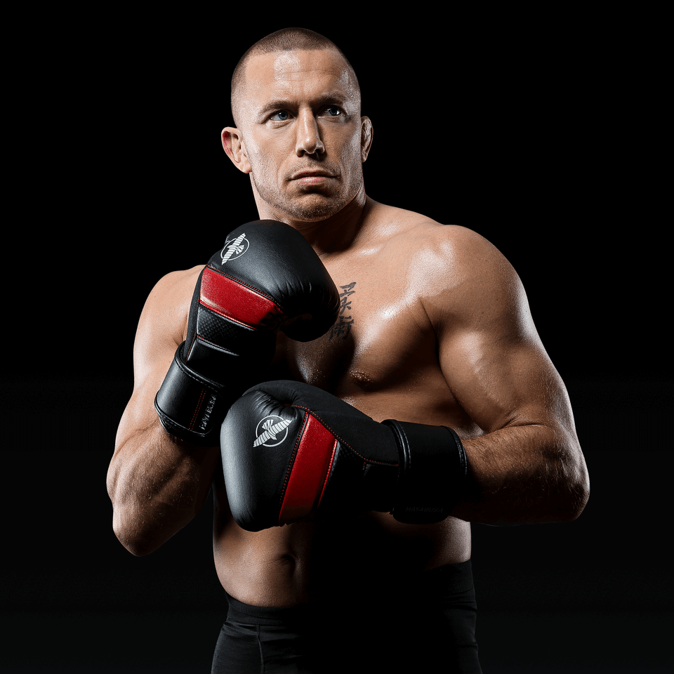 GSP wearing the Red T3 Boxing Gloves