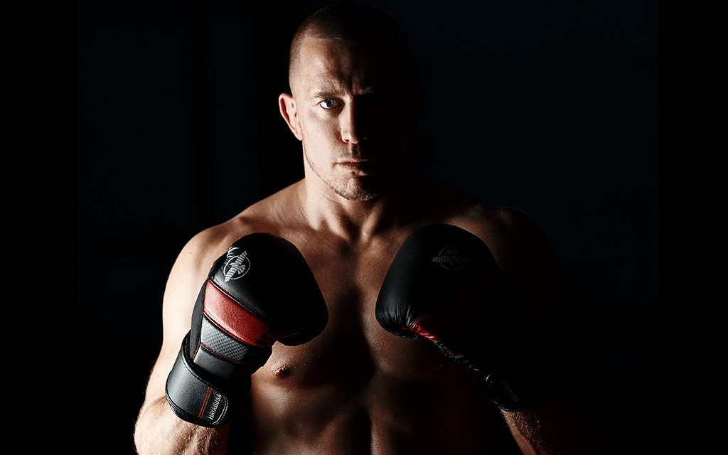 GSP wearing the T3 Boxing Gloves