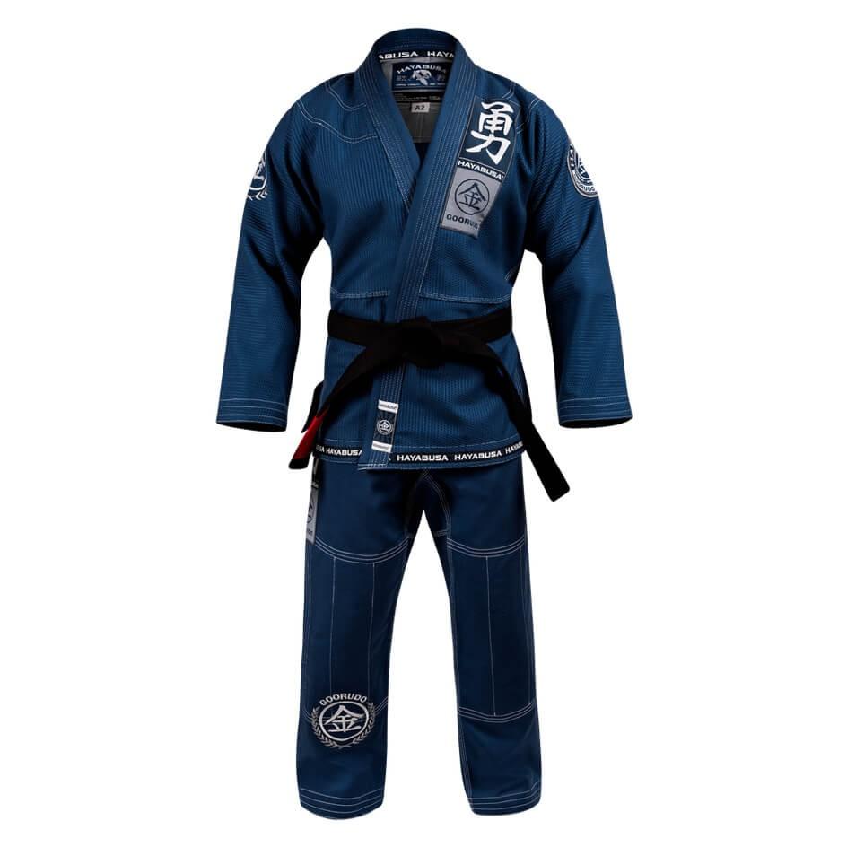 Goorudo 3 Gold Weave Jiu Jitsu Gi in blue