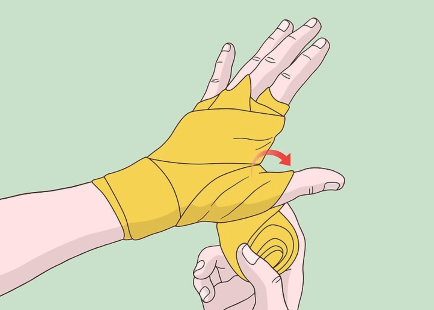 Remember to wrap your thumb up once.