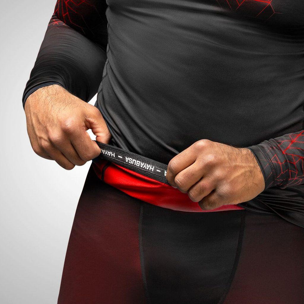 Geo rashguard with silicone waistband